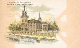 Carte Précurseur - L' Exposition UNIVlle  De 1900 - Pavillon Royal De Hongrie - Expositions