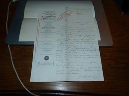 Document  Commercial Facture N & J Bloch & Fils Tomblaine Nancy 1901 - Belgique