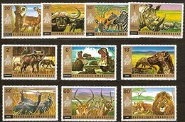 Rwanda Ruanda 1972  OBCn° 451-460 *** MNH  Cote 12,00 Euro Faune Sauvage - Rwanda