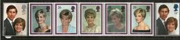 Hommage à Lady Diana.  7 Timbres Neufs ** Grande-Bretagne - Koniklijke Families