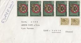 COVER ITALIA ESPRESSO TO FRANCE   / 4 - Timbres
