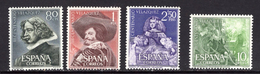 España 1961. Pintor Velazquez. Ed 1340 / 1343. MNH. **. - 1931-Hoy: 2ª República - ... Juan Carlos I