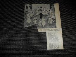"""Origineel Knipsel ( 2583 ) Uit Tijdschrift """" Ons Volk """"  1934 :   Carnaval  Karneval  Aalst  Alost - Vieux Papiers"""