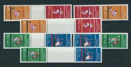 Olympiamarken 1972 MiNr. MHB 17 Und H-Blatt 22, 17 Verschiedene Zusammendrucke, Postfrisch - BRD