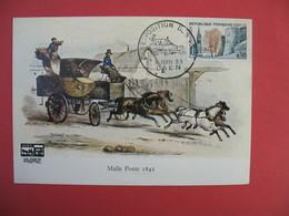Carte 1963 Malle Poste 1842 -Cachet  Caen -  Exposition Des P.T.T. - Expositions