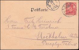 Firmenlochung W.&C. Auf Germania Reichspost 10 Pf EF Ansichtskarte CÖLN 24.12.00 - Ohne Zuordnung