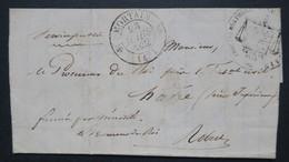 Lettre Du Procureur Du Roi A Mortain Manche Pour Le Tribunal Du Havre 1832 Au Verso CaD Le Havre Estafette - Marcofilia (sobres)