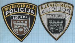 LATVIA / Patch Abzeichen Parche Ecusson /  Municipal Police. Sigulda. - Police & Gendarmerie
