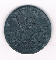 20 HALLER  1941  BOHMEN UND MAHREN  TSJECHOSLOWAKIJE /2353/ - Tchécoslovaquie