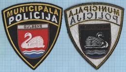 LATVIA / Patch Abzeichen Parche Ecusson /  Municipal Police. Gulbene. - Police & Gendarmerie