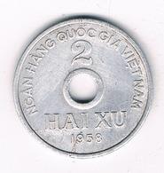 2 XU  1958 NORTH VIETNAM /2356/ - Viêt-Nam