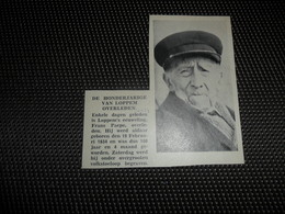 "Origineel Knipsel ( 2702 ) Uit Tijdschrift "" Ons Volk ""  1934 :  100 - Jarige  Honderdjarige  Lophem  Loppem - Vieux Papiers"