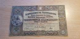 Schweiz 5 Franken 1951 Hirs Unterschrift - Suisse