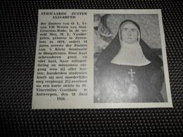 """Origineel Knipsel ( 2703 ) Uit Tijdschrift """" Ons Volk """"  1934 :  Sint - Genesius - Rode  Zaventem  Hoogstraten - Vieux Papiers"""