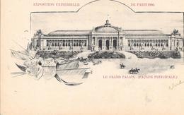 Carte Précurseur - EXPOSITION UNIVERSELLE DE PARIS 1900 - Le Grand Palais (Façade Principale) - Expositions
