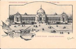 Carte Précurseur - EXPOSITION UNIVERSELLE DE PARIS 1900 - Le Petit Palais (Façade Principale) - Expositions