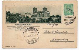 1936 Monastery Zica Serbia Yugoslavia Illustrated Used Postcard - Yougoslavie