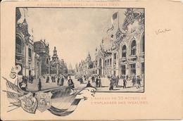 Carte Précurseur - EXPOSITION UNIVERSELLE DE PARIS 1900 - L'Avenue De 33 Mètres De L'Esplanade Des Invalides - Expositions