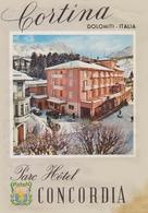 CORTINA  Dolomiti Italia  Parc Hôtel CONCORDIA - Publicités
