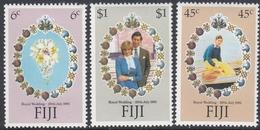 Fiji  1981 - Royal Wedding Of Prince Charles And Lady Diana Spencer - Mi 436-438 ** MNH - Fidji (1970-...)