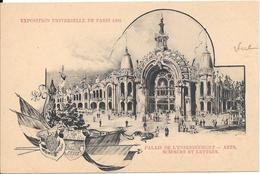 Carte Précurseur - EXPOSITION UNIVERSELLE DE PARIS 1900 - Palais De L'Enseignement - Arts - Sciences Et Lettres - Expositions