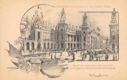 Carte Précurseur - EXPOSITION UNIVERSELLE DE PARIS 1900 - Palais De L'Esplanade Des Invalides, Portiques Et Manufactures - Expositions