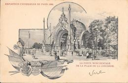 Carte Précurseur - EXPOSITION UNIVERSELLE DE PARIS 1900 - La Porte Monumentale De La Place De La Concorde - Expositions