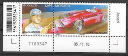 Monaco 2019 - Yv N° 3169 & 3170 ** - Les Pilotes Mythiques De F1 - Alberto Ascari - Neufs