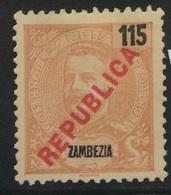 PORTUGAL - Zambezia King Carlos 115 Mint Hinged - Zambèze