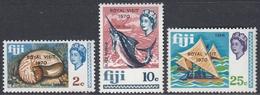 Fiji 1970 - Definitive Stamps Overprinted ROYAL VISIT 1970 - Mi 258-260 ** MNH - Fiji (...-1970)