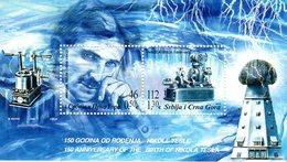 SERBIA & MONTENEGRO 2006 Tesla 150th Anniversary Block, MNH / **.  Michel Block 66 - Blocs-feuillets