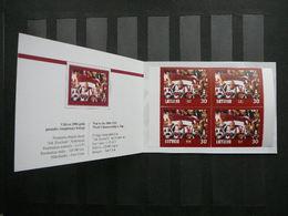 World Championship In Ice Hockey # Latvia Lettland Lettonie # 2004 MNH #Mi. 610D Booklet - Lettonie