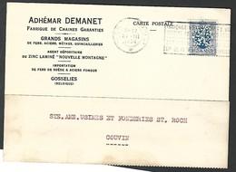 """Perfin Perfo """" A D  """" Adhémar Demanet Gosselies - 1934-51"""