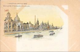 Carte Précurseur - L'EXPOSITION UNIVlle De 1900 - Pavillons Etrangers (Rive Gauche) - Expositions