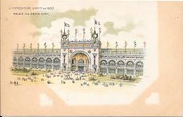 Carte Précurseur - L'EXPOSITION UNIVlle De 1900 - Palais Du Génie Civil - Expositions