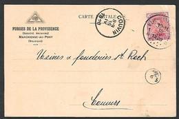"Perfin Perfo "" Triangle Driehoek  ""  Forges De La Providence Marchienne Au Pont  Couvin - 1909-34"