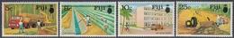 Fiji 1973 - Development Projects: Forestry, Irrigation, Road Construction, Housing, Bicycle - Mi 306-309 ** MNH - Fidji (1970-...)