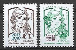 France 2018 - Yv N° 5234 & 5235 ** - Marianne De Ciappa Et  Kawena Surchargée 2013-2018 ** - Unused Stamps