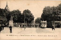 37 .. TOURS .. L'AVENUE DE GRAMMONT .. COTE NORD   .. TRAMWAY - Tours