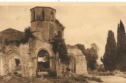 Cpa Marans Vieille Eglise Dans Cimetiere - France