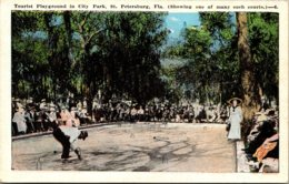 Florida St Petersburg Tourist Playground In City Park 1920