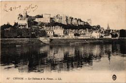 37 .. CHINON .. LE CHATEAU ET LA VIENNE  ... 1919 - Chinon