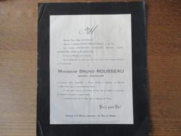 CHARLEVILLE MONSIEUR BRUNO ROUSSEAU ANCIEN COUTELIER DECEDE LE 12 MAI 1926 DANS SA SOIXANTE TREIZIEME ANNEE - Décès