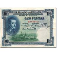 Billet, Espagne, 100 Pesetas, 1925, 1925-07-01, KM:69c, TTB - [ 1] …-1931 : Premiers Billets (Banco De España)