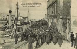 180319A - 17 ILE DE RE ST MARTIN Départ Des Forçats Pour La Guyane Arrivée Sur Les Quais - LC - Saint-Martin-de-Ré