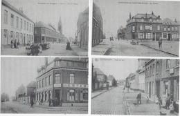 édition 1986-société Historique De Sainghin En Weppes- 4 Cartes Postales Reproduites-rue Et Place Du Village - - Frankreich