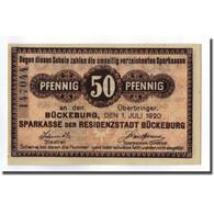 Billet, Allemagne, Buckeburg Sparkasse, 50 Pfennig, Graphique, 1921, 1921-07-01 - Allemagne