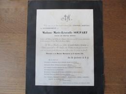 SAINT WAAST LA VALLEE MADAME MARIE-LEOCADIE SOUPART VEUVE DE MARTIAL BISIAU DECEDEE LE 4 FEVRIER 1937 DANS SA 90me ANNEE - Décès