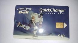 Canada-(b20011)-sports Series-hockey-(7)-(10$)-tirage-60.000-used Card+1card Prepiad Free - Kanada