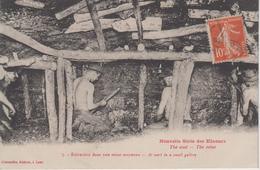 CPA Nouvelle Série Des Mineurs - The Coal - The Mine - Extraction Dans Une Veine Moyenne (légende Bilingue) - Mines